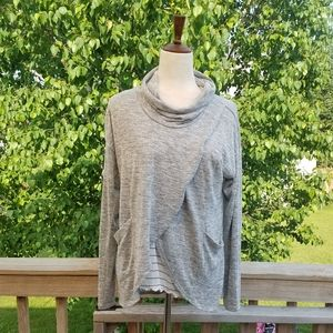 Maurices Layered Cowl Neck Shirt